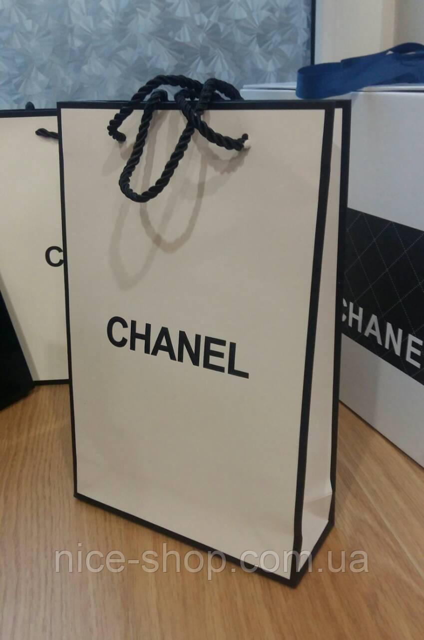 Подарочный пакет белый вертикаль, mini