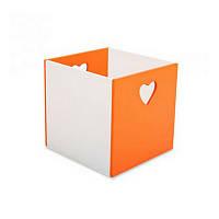 Ящик для игрушек Сердце оранжевый