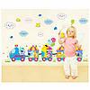 """Наклейка на стену """"веселый паровозик """" 120*60см наклейки в детскую (лист50*70см), фото 4"""