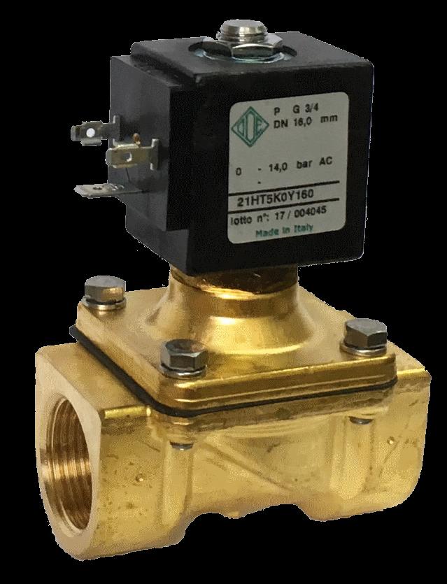 Электромагнитный клапан для воды 21HT4KOY160 (ODE, Italy), G 1/2, Купить в Киеве