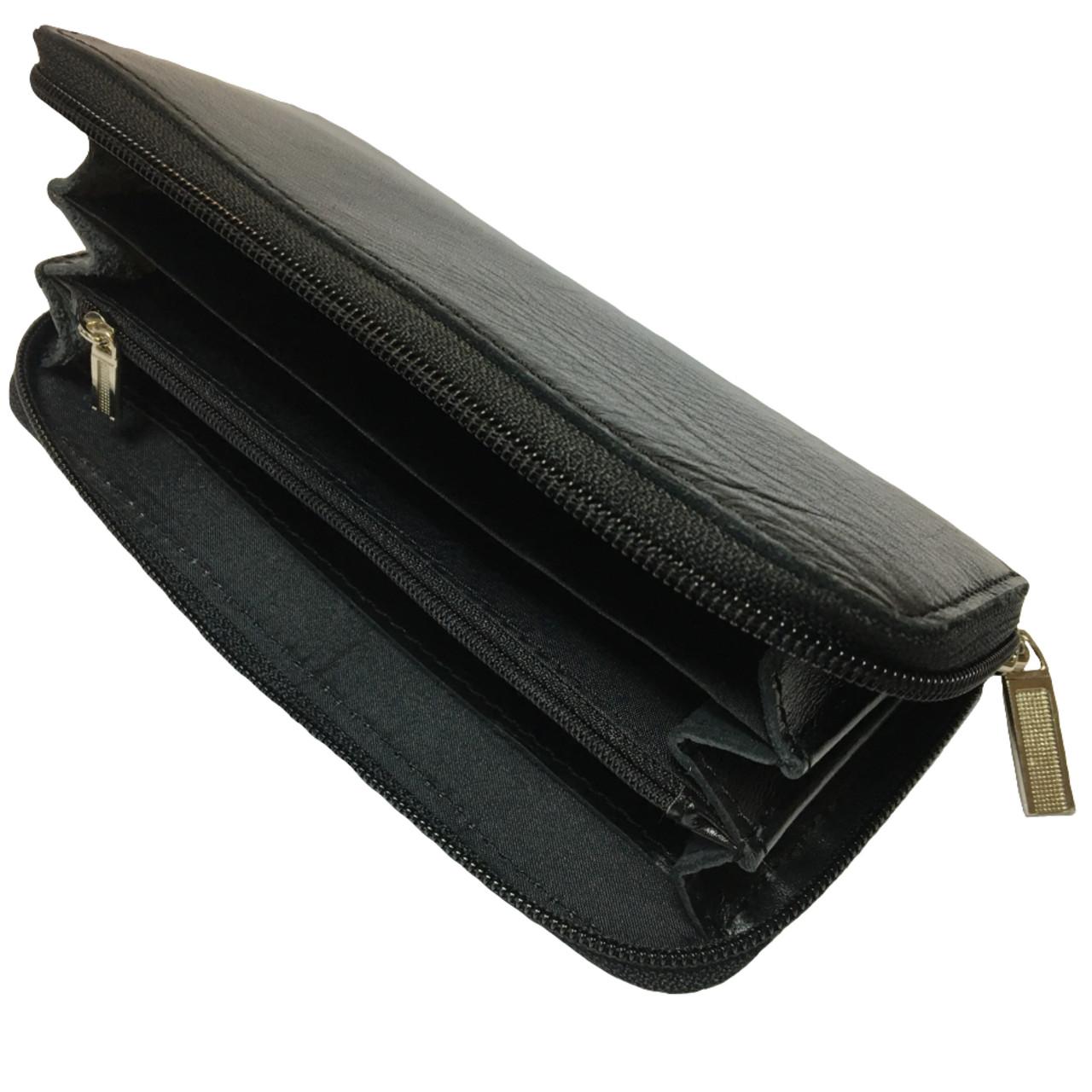 Кошельки CREZ из натуральной кожи (190х90mm) кожаные портмоне
