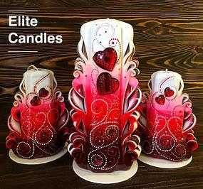 Резные свечи с точечной росписью
