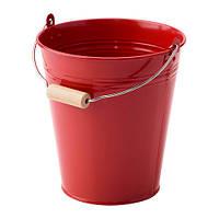 Ведро/горшок, д/дома/улицы, красный, 2.5 л IKEA SOCKER 003.634.73