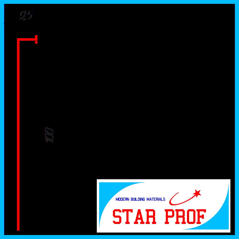 Алюминиевый плинтус для парящих стен ПА-10311 высота 100 мм, 3,0 м, Серебро