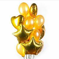 Композиция из гелиевых шаров. Гелиевые шары золотые. Гелиевые шары Троещина. Гелиевые шары Воскресенка.