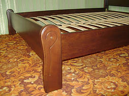 """Кровать """"Афина"""" (200*160), массив дерева - ольха, покрытие - № 11. 3"""