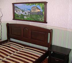 """Кровать """"Афина"""" (200*160), массив дерева - ольха, покрытие - № 11. 6"""