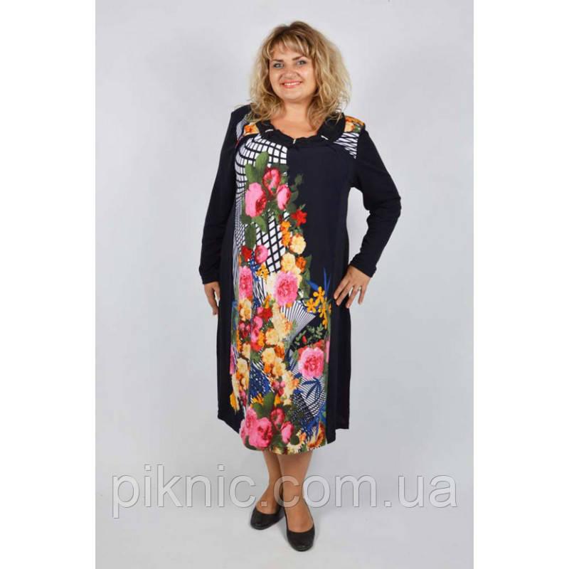 Платье Элина большой размер 60, 62, 64. Женское платье батал