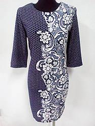 Свободное платье с цветочным узором