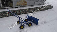 Снігоочисник ручний на 4 колесах, фото 1