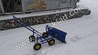 Снігоочисник ручний на 4 колесах для прибирання снігу