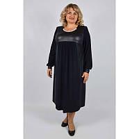 Стильное платье Парижанка больших размеров 58-60, 62-64, 66-68. Красивое женское платье батал