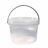 Ведро-тара 1.1л 120х125 круглое прозрачное герметичное (200шт в уп)