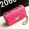 Женская маленькая сумочка на цепочке розового цвета опт