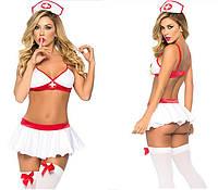 Костюм сексуальной медсестры Goldie наряд медсестрички с чепчиком и юбкой