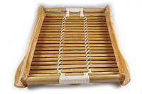 Поднос бамбуковый 27*20*3 лакированный