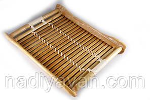 Поднос бамбуковый 27*20*3 лакированный, фото 2