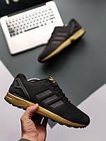 Мужские кроссовки Adidas ZX Flux Black, Копия