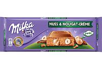 Шоколад молочный Milka Nuss&Nougat-creme 300 г. Швейцария!
