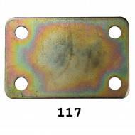 Пластина крепежная № 37(50х35х1мм)(50шт/уп)