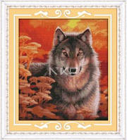 Волк Набор для вышивки крестом