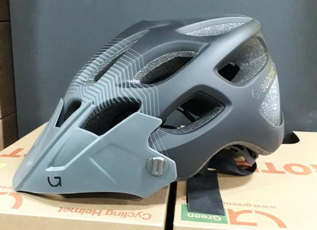 Велошолом Green Cycle Slash 58-61см HEL-38-11 чорний/сірий матовий