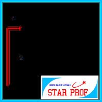 Плинтус алюминиевый под гипсокартон ПА-7015 высота 70 мм, 3,0 м, Серебро