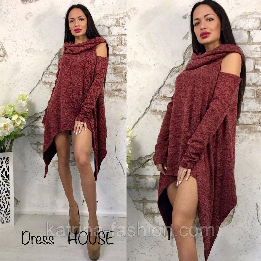 3e6bd755000 Женское ассиметричное платье-туника (5 цветов) - KATRINA FASHION - оптовый  интернет-