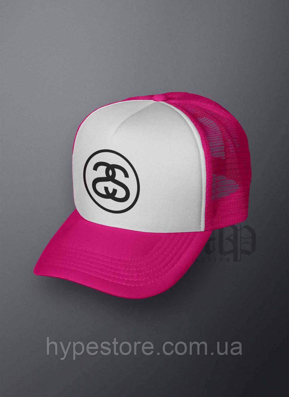Кепка, бейсболка Stussy (розовая), Реплика