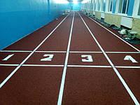 Поліуретанове легкоатлетичне покриття Conipur SP манеж м. Черкаси