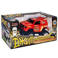 Джип 0937 СН р/у, аккум, в кор-ке, 35-16-16смЮ игрушечная машинка, игрушка для мальчиков