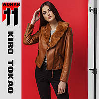 11 Kiro Tokao | Женская японская куртка весна-осень 4624 коричневый