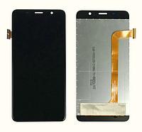 Оригинальный дисплей (модуль) + тачскрин (сенсор) для Bravis S500 Diamond (черный цвет)