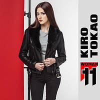 11 Киро Токао   Женская куртка весенне-осенняя 4826 черный