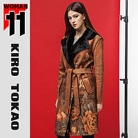 11 Киро Токао | Пальто весенне-осеннее женское Япония 8580 коричневый
