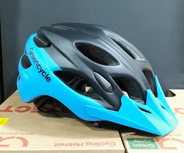 Велошлем Green Cycle Enduro 58-61см HEL-01-63 черный / синий