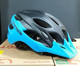 Велошолом Enduro 58-61см чорний/синій HEL-01-63 Green Cycle