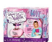 La Rive Violetta Love For Girl Подарочный набор для женщин (Парфюмированная вода 50мл  Гель для душа 2в1)