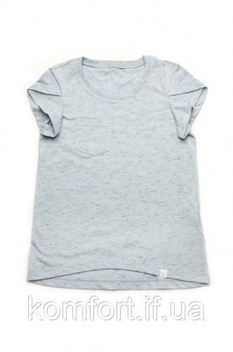 Детская футболка для девочки базовая (голубая)