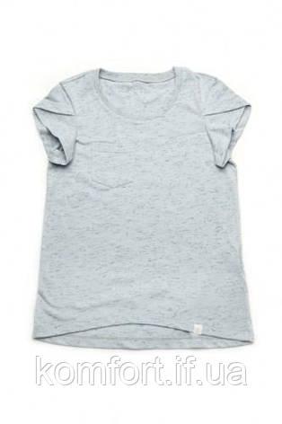 Детская футболка для девочки базовая (голубая), фото 2
