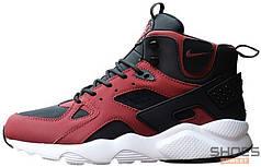 Мужские кроссовки Nike Air Huarache High Red/Black/White