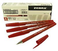 """Ручка """"Zebra"""" шар. Rubber красн. R8000/10"""