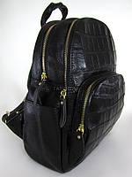 Рюкзак кожа 601-02-6 черный