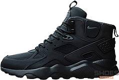 Мужские кроссовки Nike Air Huarache High Black