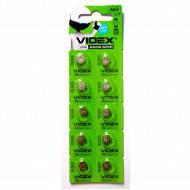 Батарейка VIDEX часовая алкалиновая AG3 1.5V. блистер
