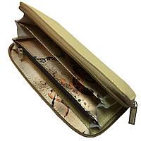 Кошельки CREZ из натуральной кожи (190х90mm) кожаные портмоне Бежевый