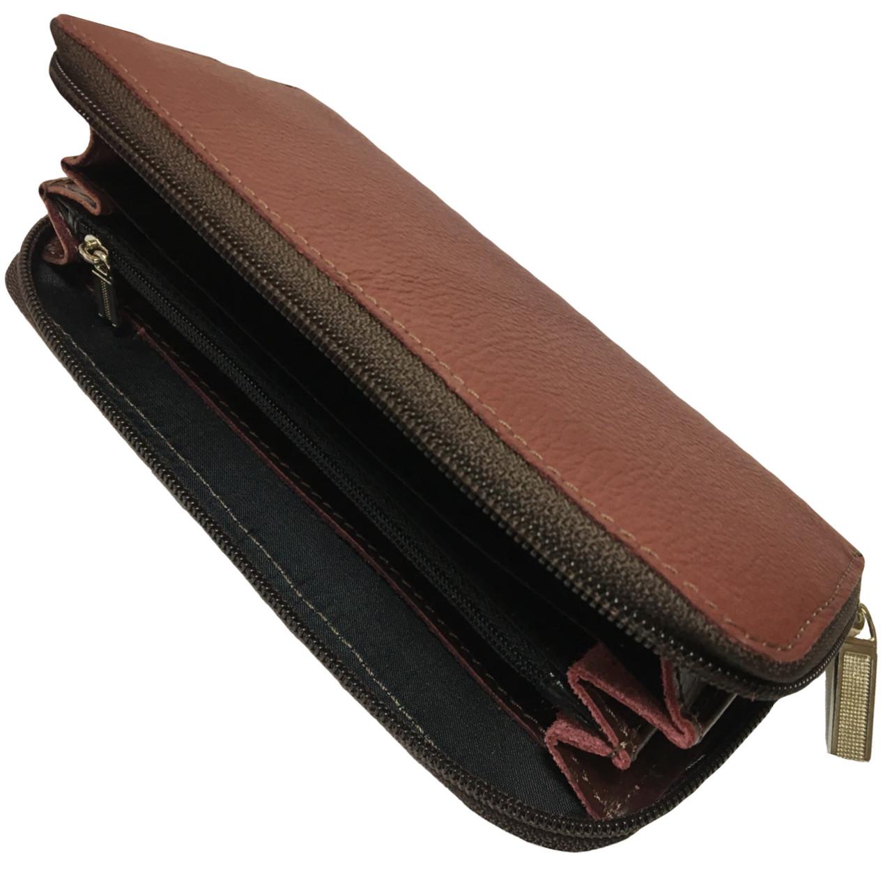 Кошельки CREZ из натуральной кожи (190х90mm) кожаные портмоне Бордовый