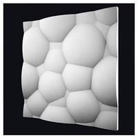 "3-D панели из гипса ""Пузыри"""