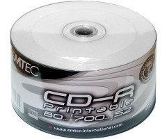 CD-R диски для аудіо, принтовые Emtec Рrintable Shrink/50