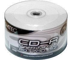 CD-R диски для аудио, принтовые Emtec Рrintable Shrink/50